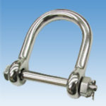 Wide Screw Pin D-shackle, Cotter Pin type