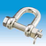 Safety D-shackle, Bolt type