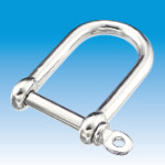 Screw Pin D-Shackle long & wide type