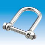 Wide Safety D-shackle, w/loose stopper nut