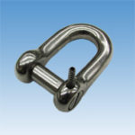 Oval Sink Pin type D-Shackle w/pinlock
