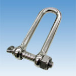 Long Screw Pin D-Shackle, w/loose stopper nut