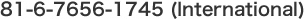 81-6-7656-1745(International)