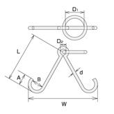 ステンレス 係船環MV型