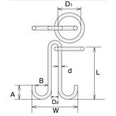 ステンレス 係船環MM型