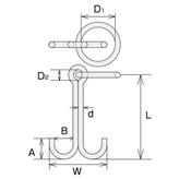 ステンレス 係船環MW型